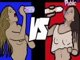 Battle People : Coralie VS Aurélie des Anges8 : La plus sexy aura la chance de poser avec la bouteille...