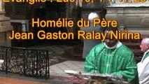 Homélie du Père Jean Gaston Ralay Nirina
