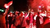 Euro 2016 : après la victoire des Bleus face à l'Islande, des Grenoblois fêtent la victoire cours Jean-Jaurès