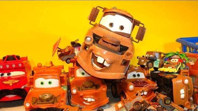 The Disney Cars Mater Pyramid , we made a Pyramid using our Tow Mater Collection from Disney