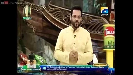 Another u-turn – After spitting venom against Army yesterday, again doing pro-army speech ? Watch Aamir Liaqat on youme-e-Pakistan