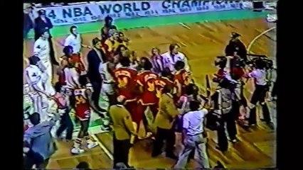 Danny Ainge/Tree Rollins Fight (April 24, 1983)