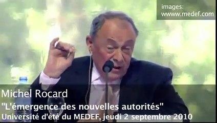 Michel Rocard toute honte bue : de l'autogestion au Medef