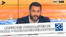 Adieux des journalistes de Canal + dans le dernier Zapping