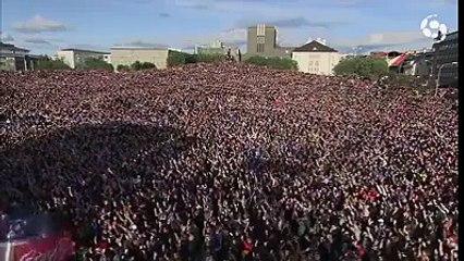 10.000 Islandeses após a derrota frente à França