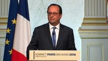 Déclaration à l'issue du sommet de Paris sur les Balkans occidentaux