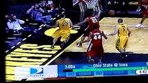 Ohio State Buckeyes Iowa Hawkeyes Basketball questionable officiating 1/27/10