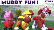 MUDDY FUN --- Join Peppa Pig and the Paw Patrol Pups as they decide to swap playgrounds due to the Play Doh mud, Featuring Thomas and Friends, Rubble, Rocky and Marshall from Paw Patrol, and many more family fun toys
