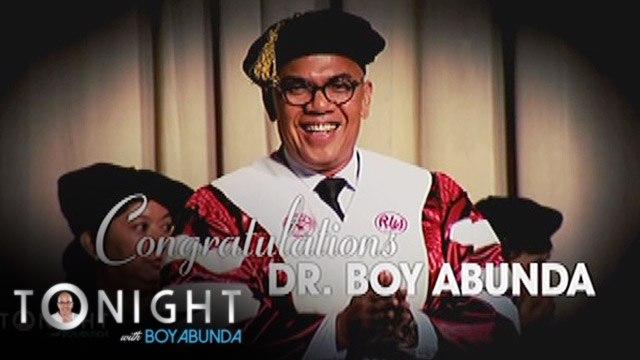 TWBA: Congratulations, Dr. Boy Abunda!