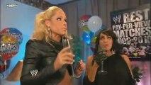 LayCool& Teddy Long Backstage Segment WWE Smackdown 07/23/10