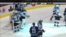 Canucks Vs Sharks - Alex Burrows 5-1 Goal - 11.26.10 - HD