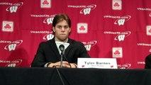 Wisconsin forwards Tyler Barnes and Mark Zengerle Jason Karnosky WSJ 10 29 2011