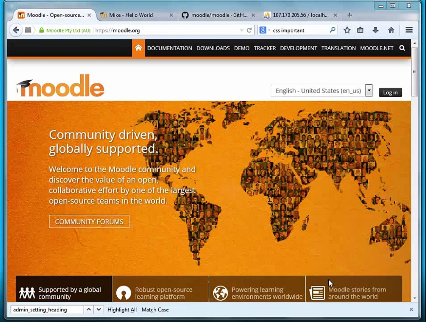 Moodle Programming: Part 11 - Block global configuration 2