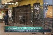 Robo de autopartes en Lima disminuyó en 20%