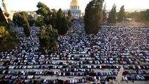 Prière de la fin du ramadan sur l'esplanade des mosquées