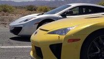 Declan Clancy | Bugatti Veyron vs Lamborghini Aventador vs Lexus LFA vs McLaren MP4-12C