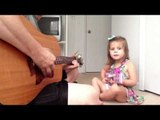 Daddy and Daughter Pen Cute Song About an Old Man Snoring