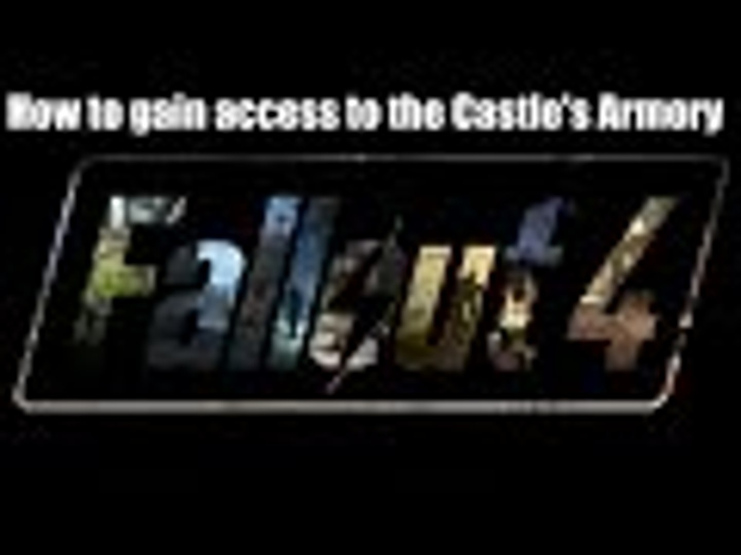 Fallout 4: how to gain access to the castle's armory