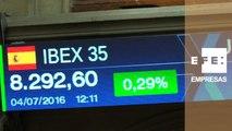 El Ibex 35 mantiene las ganancias al mediodía y se sitúa en los 8.280 puntos