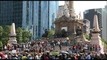 Maestros marchan en Ciudad de  México para pedir reanudación de diálogo con Gobierno