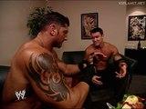 Ric Flair, Randy Orton, Batista backstage, WWE RAW 24.02.2003