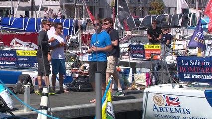 Solitaire Bompard Le Figaro - Départ ponton 4ème étape La Rochelle - La Rochelle