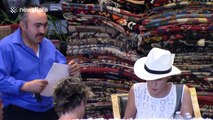 Sharon Stone spotted with friends at Hollywood rug store