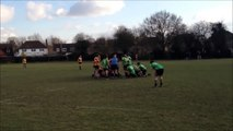 Bracknell RFC Under 19 late try vs The Drifters RFC