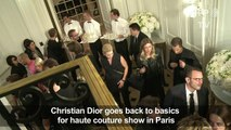 Dior goes back to basics in latest couture show