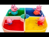 Learn Colours with Clay SLIME JELLY Surprise Toys Peppa Pig Family For kids