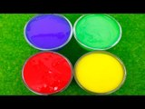 Learn Colors with Clay SLIME Surprise Toys Pororo Crong Larva The Mean Greens Peppa Pig For kids