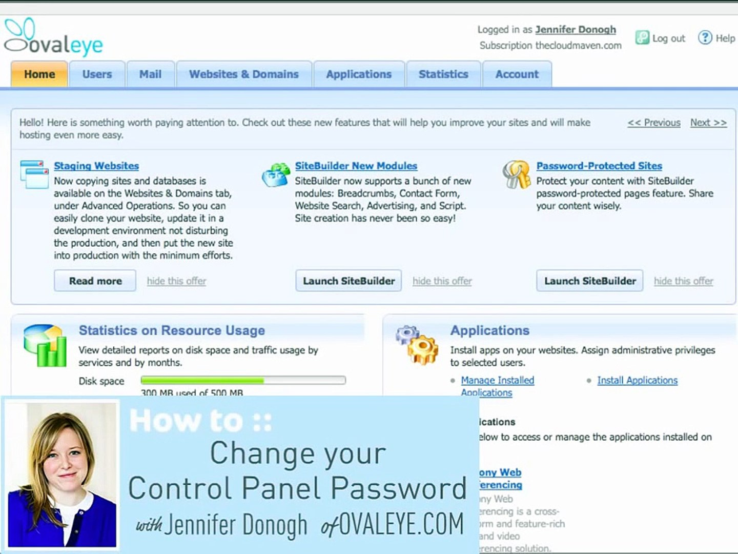 How to Change your Plesk Panel 10 Control Panel Password