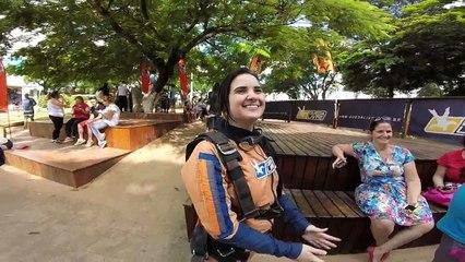 Salto de Paraquedas da Geovana C na Queda Livre Paraquedismo 23 01 2016