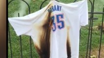 Kevin Durant jerseys burned by loyal Thunder fans