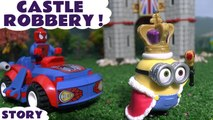 CASTLE ROBBERY --- Join Venom and The Joker as they hire Minions to steal the crown jewels in this unboxing review of the Mega Bloks Minions Castle Toy Story, Featuring Darth Vader, Spiderman, Scooby Doo and many more family fun toys