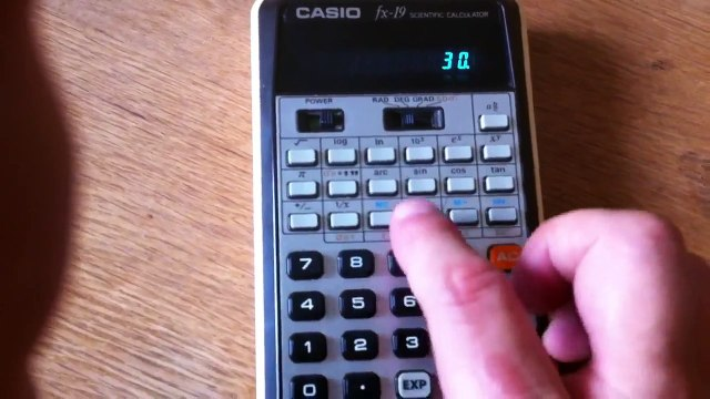 Casio fx-19 Scientific Calculator (1976)