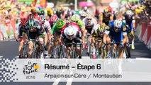 Résumé - Étape 6 (Arpajon-sur-Cère / Montauban) - Tour de France 2016