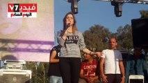 بالفيديو.. كنزة مرسلى تتألق بأولى حفلاتها فى مصر بعيد الفطر