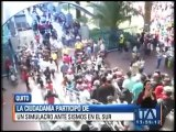 Ciudadanos participaron en un simulacro de sismo en el sur