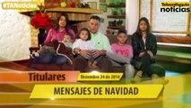 Titulares de Teleantioquia Noticias - miércoles 24 de diciembre de 2014