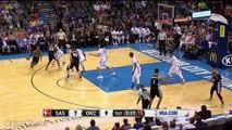 Boban Marjanovic Dunks on Three Thunder Players   Spurs vs Thunder   March 26, 2016   NBA