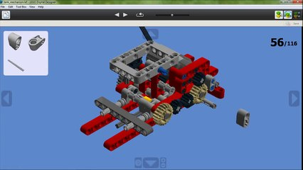 LEGO technic tank with 25 projectiles - building instructions