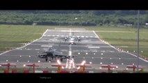 Décollage à la verticale d'un avion de chasse Typhoon !