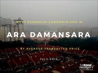 Most expensive condos in Ara Damansara