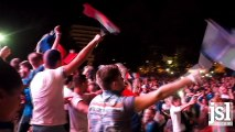 La fête des supporters de Chalon au coup de sifflet final de France - Allemagne