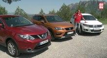 VÍDEO: Seat Ateca contra Nissan Qashqai y Volkswagen Tiguan