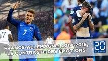 France-Allemagne: 2014-2016, le contraste des émotions