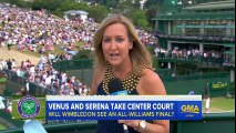 Serena, Venus Williams Cruise to Wimbledon Semifinals
