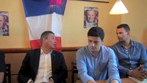 Nicolas Dupont-Aignan à la recherche de parrainages dans l'Yonne