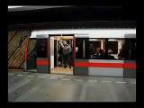Pražské metro M1 odjezd 1
